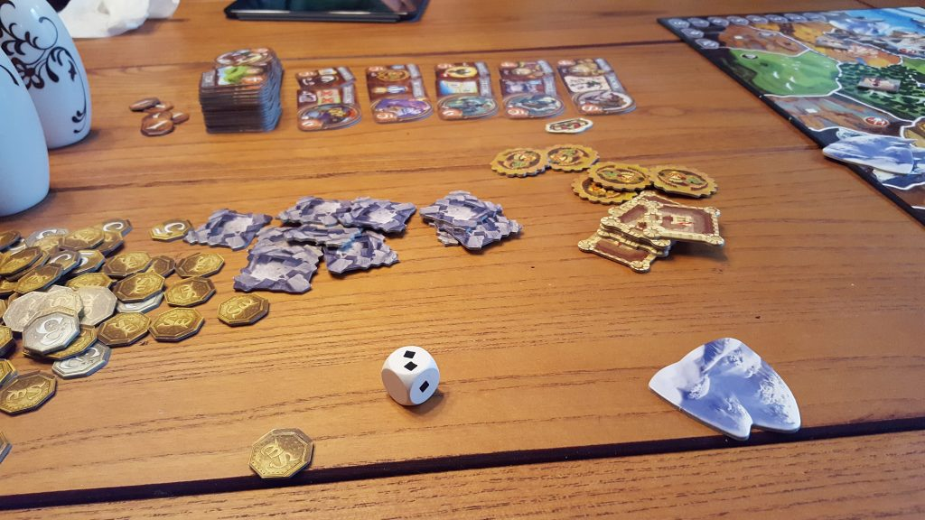 small world board game set up