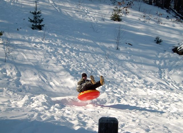 The Adult Form of Sledding: Snow Tubing!  Go by yourself, bring a friend, or the family.