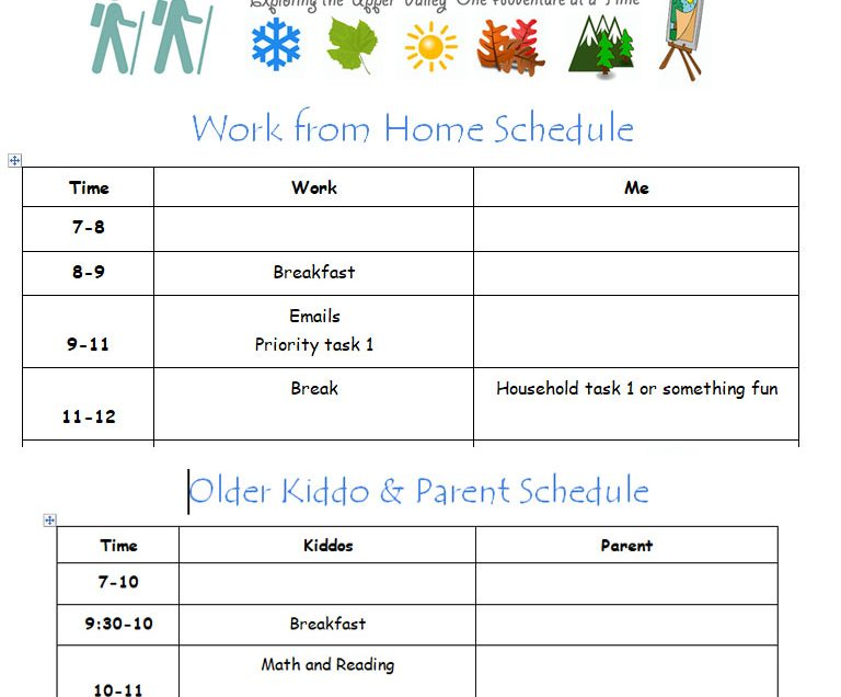 Tips for Coping with the Added Responsibilities at Home (4 Editable Schedules)